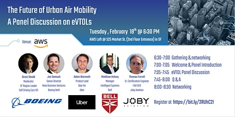The Future of Urban Air Mobility: A Panel Discussion on eVTOLs tickets