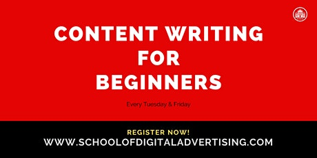 CONTENT WRITING FOR BEGINNERS  tickets