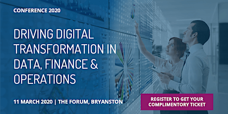 Driving Digital Transformation in Data, Finance & Operations tickets