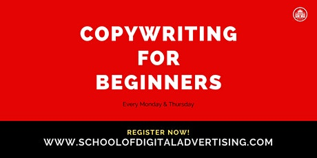COPYWRITING FOR BEGINNERS tickets