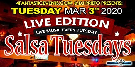 """Live Edition Salsa Tuesday – Live Band """"Caribe Project"""" on Stage! tickets"""