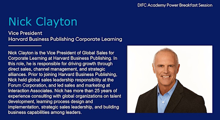 DIFC Academy Power Breakfast with Harvard Business Publishing image