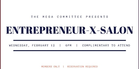 Entrepreneur X Salon - Monthly Series  tickets