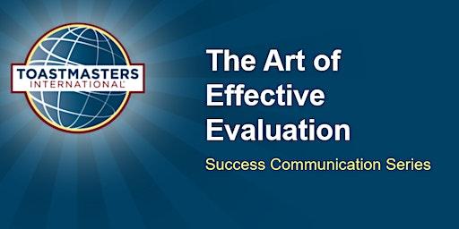 The Art of Effective Evaluation - Workshop