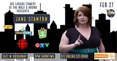 Big Laughs Comedy at Wolf & Hound Pub Presents Jane Stanton