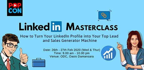 Turn Your LinkedIn Profile into Your Lead & Sales Generating Machine tickets