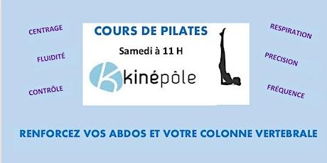 Cours de Pilates au Cabinet Kinépôle Agau billets