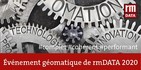 Évément géomatique de rmDATA 2020 tickets