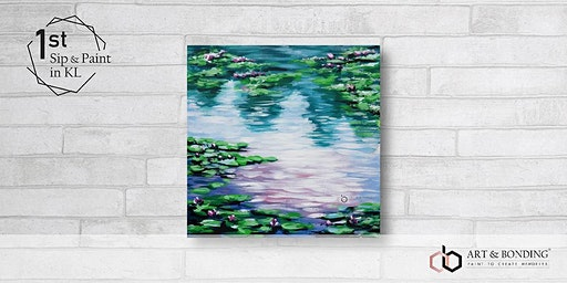 Sip & Paint Night : Water Lilies Pond By Monet