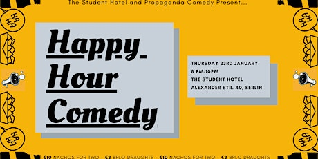 English Stand-Up Comedy - Happy Hour Comedy #2 FREE ENTRY with free shots tickets
