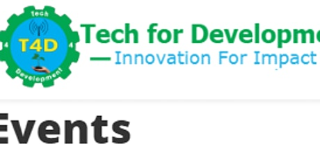 9th to 13th March 2020 Training Events (Tech for Development) tickets