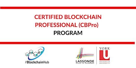 Certified Blockchain Professional (CBPro) Program tickets