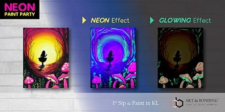 Sip & Paint Night : NEON Paint Party - Alice In The Wonderland tickets