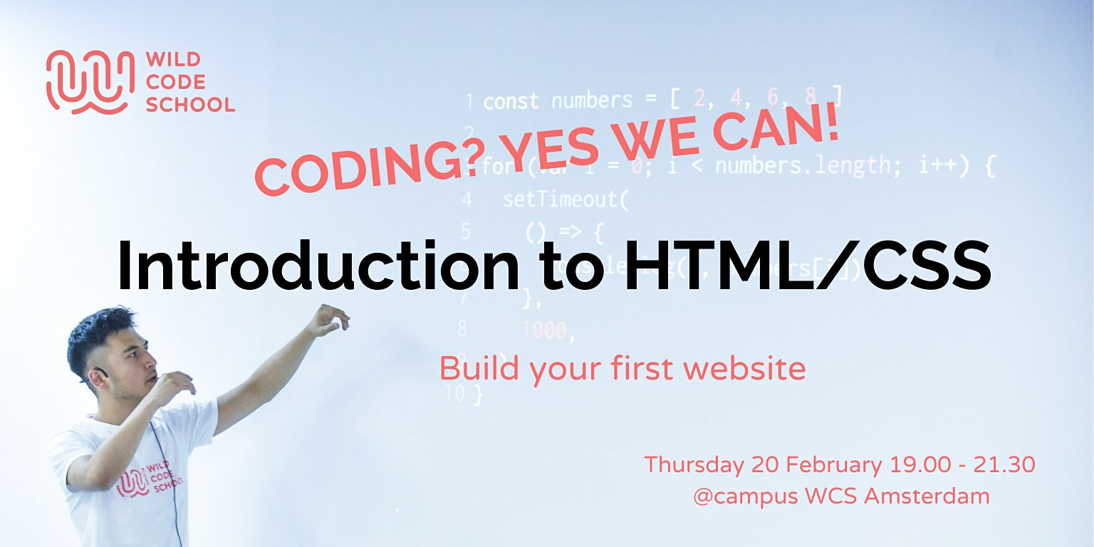 Coding? Yes we can! Intro in HTML/CSS, build your first website!
