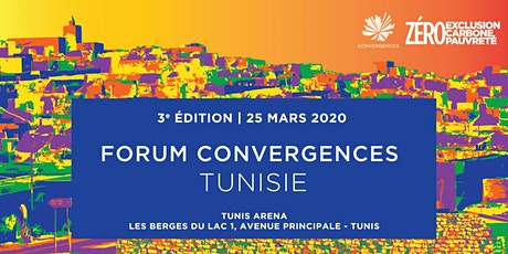 Forum Convergences Tunisie 2020 - L'ESS en action pour une Tunisie 3Zéro tickets