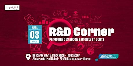 R&D CORNER - Mars 2020 billets