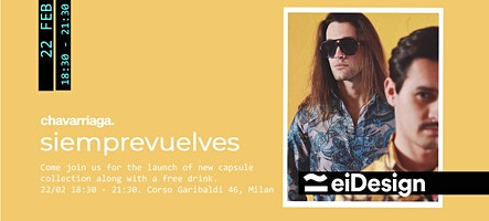"EIDESING POP UP STORE | MFW | CHAVARRIAGA ""Siemprevuelves"""