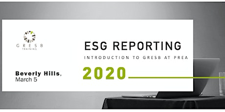 ESG Reporting: Introduction to GRESB at PREA tickets