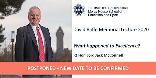 The David Raffe Memorial Lecture 2020