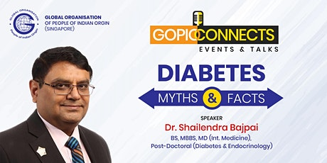 GOPIO CONNECTS - DIABETES MYTHS & FACTS tickets