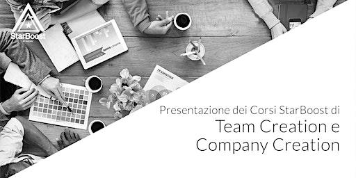 Presentazione dei corsi di Team Creation e Company Creation StarBoost