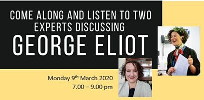 Come along and listen to two experts discuss George Eliot