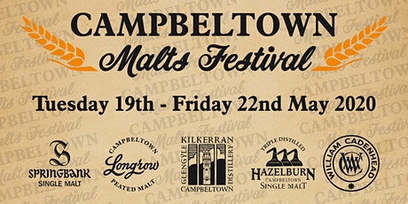 Campbeltown Malts Festival 2020 - Thursday 21st & Friday 22nd May tickets