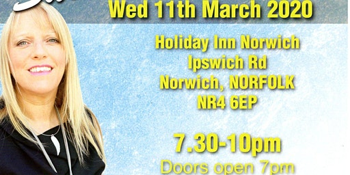 An Evening of Mediumship with the wonderful Sue Hind Wed 11/03/20 7pm-10pm