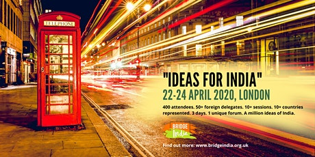 Ideas For India conference tickets