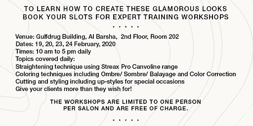 Streax Professional FREE Workshop on Straightening, Color Correction, Cuts