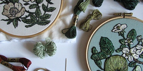 Learn to Embroider: 4-week Botanical Embroidery course tickets