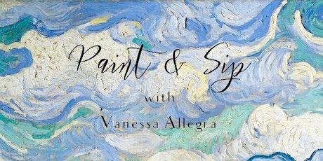 Paint & Sip with Vanessa Allegra - March tickets