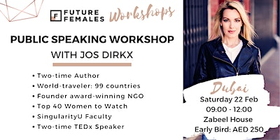 Take Action - Improve your public speaking skills NOW with Jos Dirkx