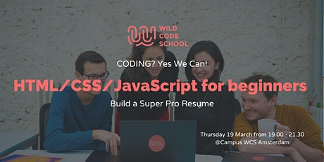 Coding? Yes we can! Build a Super Pro CV with HTML/CSS and JavaScript tickets