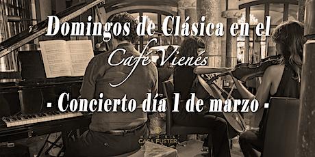 Domingos de Clásica en el Café Vienés: Concierto 1 de marzo 2020 entradas