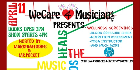 WeCare4Musicians Presents Music Heals The Soul Workshop tickets