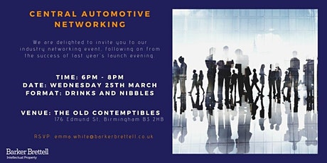 Automotive Networking Event - meet contacts within the industry tickets