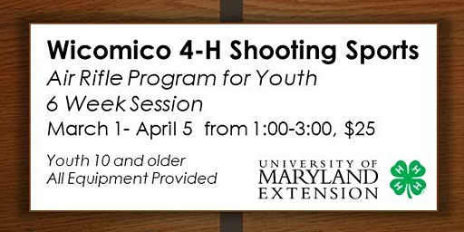 4-H Air Rifle Sessions for Youth - March 1- April 5, 2020