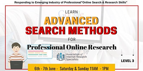 Advanced Search Methods for Professional Online Research tickets