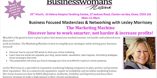 The Marketing Machine - Discover how to work smater, not harder & increase your profits!