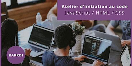 Morlaix - Atelier d'Initiation au Code - JavaScript / HTML / CSS billets