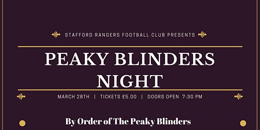 Peaky Blinders Night