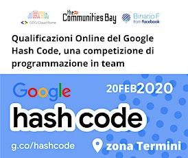 Evento #TheCmmBay Hashcode 2020 di GDG Cloud Roma - Coding Challenge biglietti