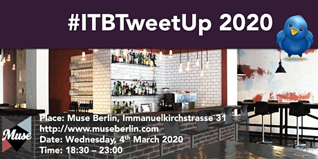 The iambassador - Travel Dudes - ITB Travel Tweet-up 2020 tickets