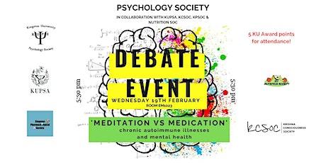 Debate: Meditation vs. Medication tickets