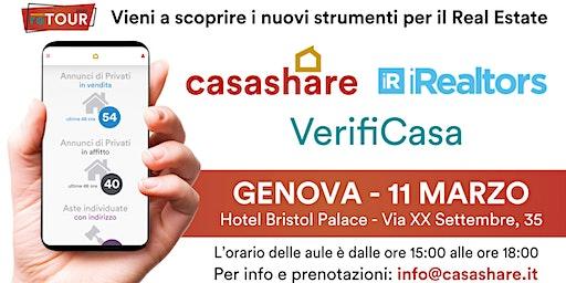 Aula formativa con Casashare, iRealtors e VerifiCasa a Genova