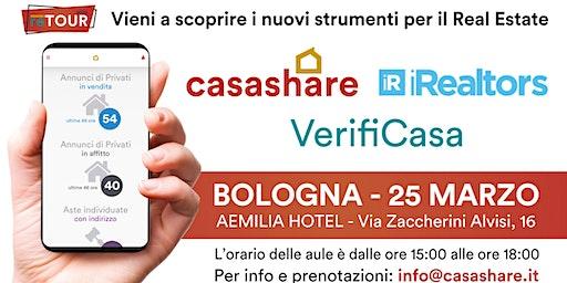 Aula formativa con Casashare, iRealtors e VerifiCasa a Bologna