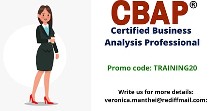 CBAP Certification Training in Plano, TX tickets