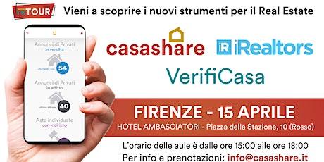 Aula formativa con Casashare, iRealtors e VerifiCasa a Firenze biglietti