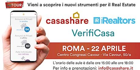 Aula formativa con Casashare, iRealtors e VerifiCasa a Roma biglietti